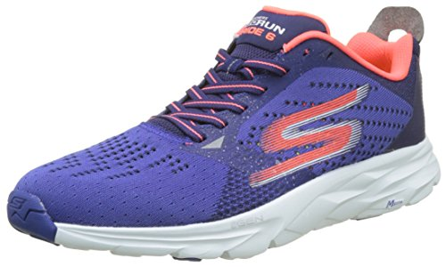 Skechers Go Run Ride 6, Scarpe Sportive Outdoor Uomo Blu (Blue/Orange)