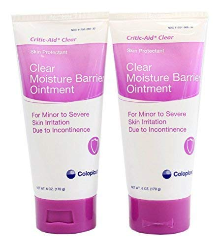 Ointment Barrier Moisture (Critic-Aid Clear Moisture Barrier Ointment - 6 Ounce Tube - Pack of 2)