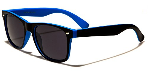 Retro Rewind Classic Polarized Wayfarer Sunglasses Black Blue w Soft - Wayfarer Classic Polarized