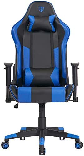 Best computer gaming chair: Max4out Gaming Chair Racing Chair Reclining Back Leather E-Sports Chair Adjustable Swivel Computer Desk Chair