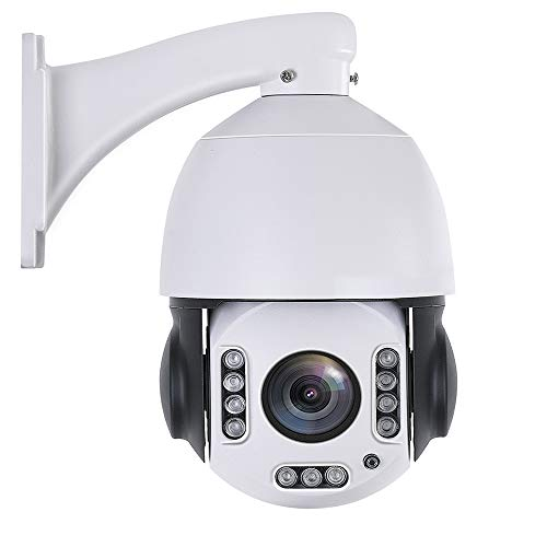 Outdoor 20X PTZ POE+ Security Camera 4.5″ WiFi Wireless 5MP/2MP Home Surveillance Outdoor Camera Pan 360° Tilt 95° 2 Way Audio Humanoid Auto Tracking Dome Camera with 64GB SD Card Phone APP to View