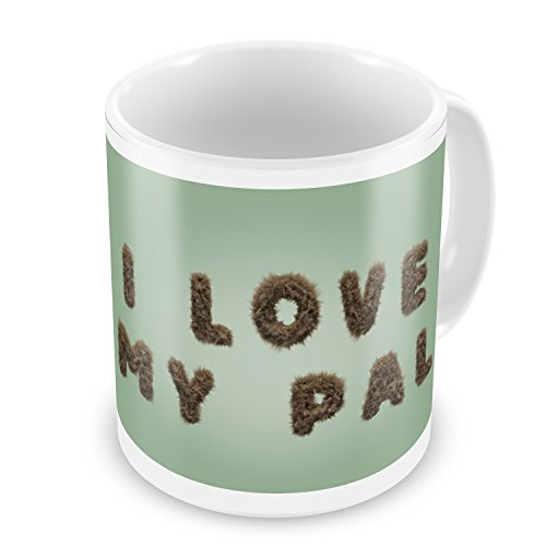 Coffee Mug I Love My Pal Furry Teddy Bear Letters - NEONBLOND (Pal Furry)