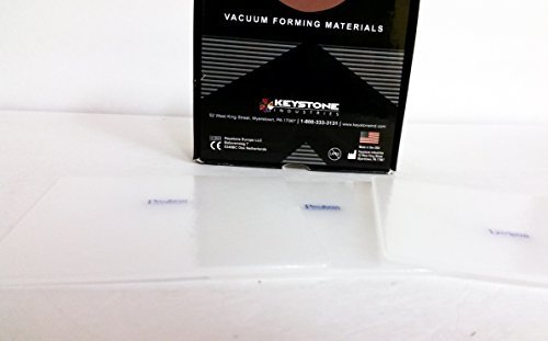 Keystone 9602550 Pro-Form Vacuum Forming Materials .120 (3mm) Niteguard Laminates5'' x 5'' Clear in Color 12/pk
