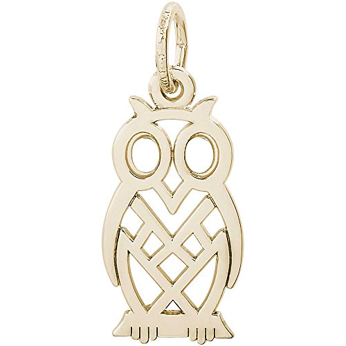 Rembrandt Owl Bird Charm - Rembrandt Charms Owl Charm, 10K Yellow Gold