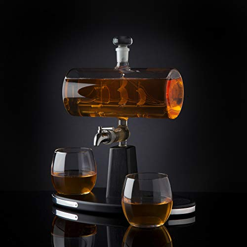 Godinger Whiskey Decanter Dispenser with 2 Whisky Tumbler Glasses - for Liquor, Scotch, Bourbon, Vodka by Godinger (Image #4)