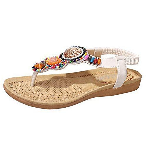 Sandali Con Cinturini In Pelle Per Le Donne Scarpe Estive Per La Boemia