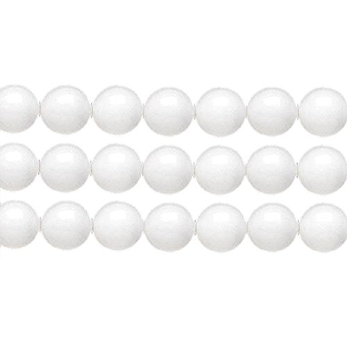 MOUNTAIN JADE ROUND BEADS CHOICE of one color per lot and one size per lot. LOOSE BEADS FREE SHIPPING (4mm 97pcs, White) ()