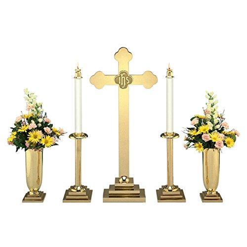 Christian Brands Church Supply SB770-30SET 30 Altar Budded Cross Set by Christian Brands Church Supply