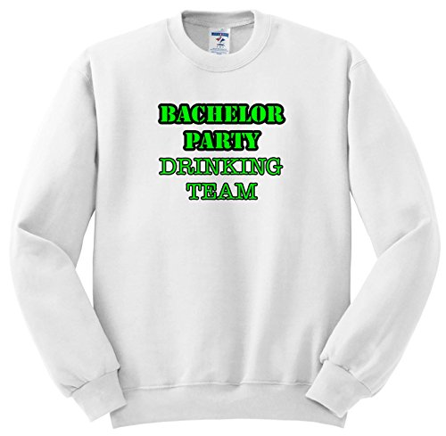 3dRose Stag,Bachelor Party - Bachelor Party Drinking Team Green - Sweatshirts - Adult Sweatshirt 3XL (ss_261066_6) ()