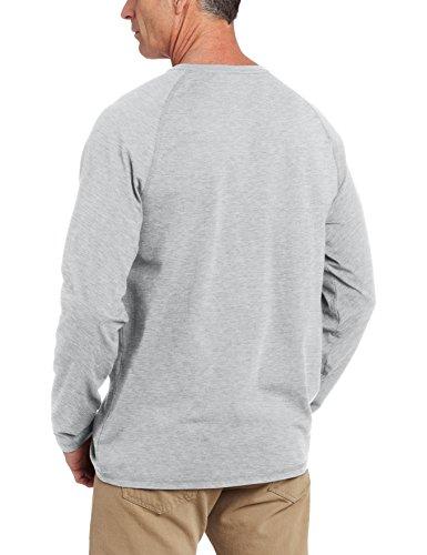 Carhartt Force® Cotton Long Sleeve T-Shirt (Large, Heather Grey)