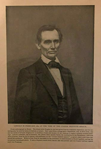 1896 Vintage Magazine Illustration Abraham Lincoln Without Beard in 1860