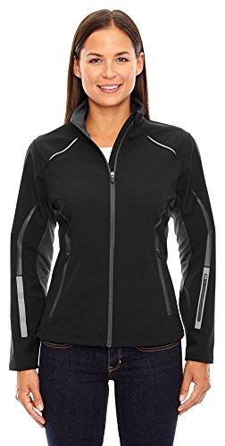 (Ash City - North End Sport Red North End Sport Ladies Pursuit Hybrid Soft Shell Jacket, XS, Black 703)