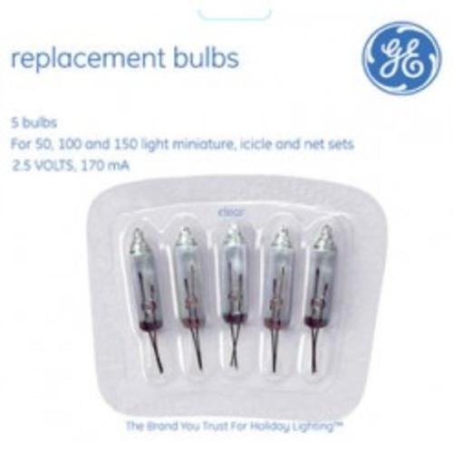 Ge Mini Replacement Bulbs 2.5 V Clear