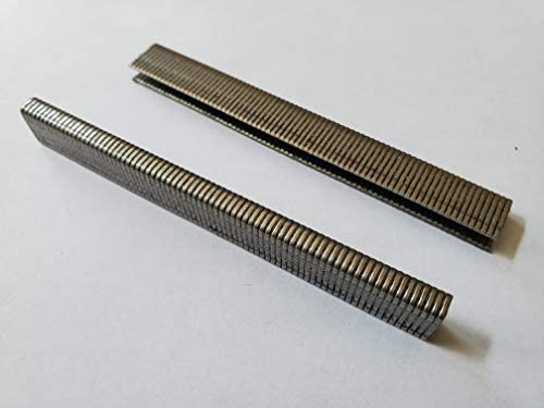 NailPRO L08SS 1//2 Leg x 1//4 Stainless Steel Narrow Crown Staples 1000 Count//Box 1//2 Leg
