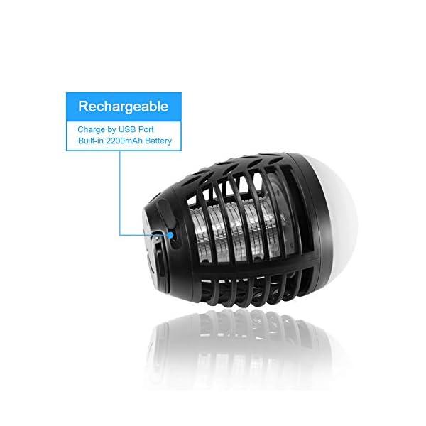 ZOTO Lampada Antizanzare, Zanzariera Elettrica con Batteria Ricaricabile USB 2200mAh, IP66 Impermeabile Lanterna Zanzare… 5 spesavip
