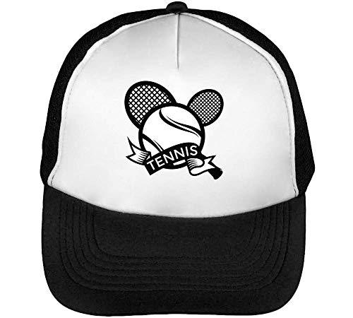 Beisbol Blanco Hombre Tennis Badge Snapback Gorras Negro Sport Wxvq7aTAw