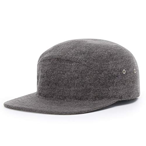 (2040USA Richardson 5 Panel Melton Wool Strapback(Heather Grey))