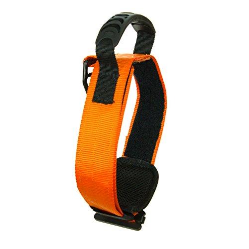 Fusion Pets Trekker Adjustable Military Tactical Police K9 Ergonomic Dog Collar Hunting Guard Canine Large Orange -
