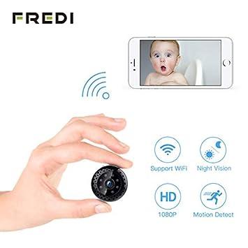 Cámara espía 1080P, cámara Oculta Fredi WiFi, cámara pequeña para Interior, inalámbrica,