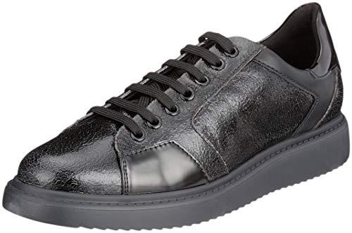 Geox D Sneakers Basses Dk E Thymar Grey C0062 Black Noir Femme 4Bqrx47Zw