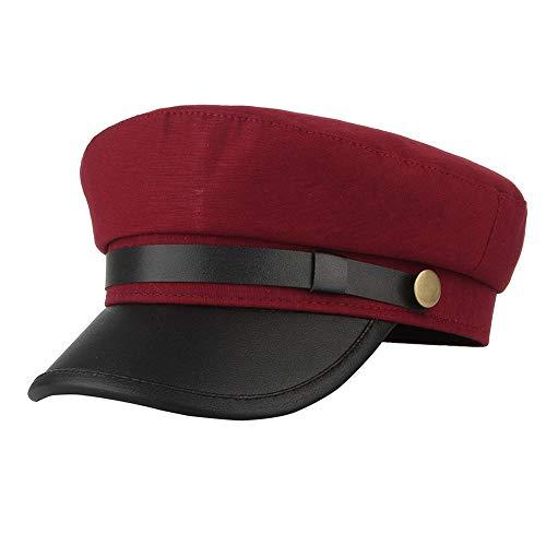 (Classic Vintage Flat Cap Newsboy Cabbie Navy Hat Adjustable for Men Women Driver Chauffeur British)