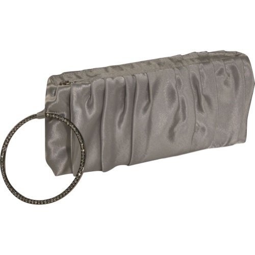 J. Furmani Satin Evening Bag with Bracelet Wristlet – Silver, Bags Central