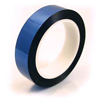 """CS Hyde Blue Metalized Polyester with Acrylic Adhesive .0022"""" Thick"""