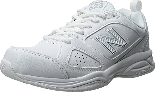 New Balance Women's WX623v3 White/Silver Sneaker 5 EE – Extra Wide