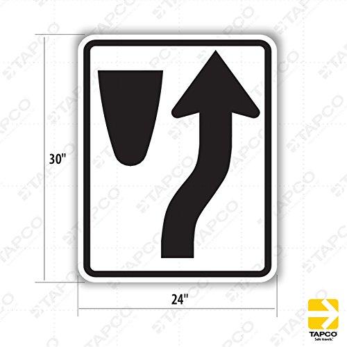 Tapco R4-7 High Intensity Prismatic Rectangular Lane Control Sign, Legend