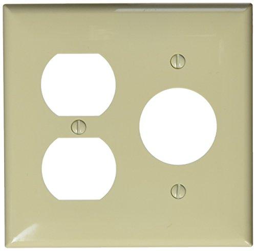 Morris 81685 Lexan Wall Plate, 2 Gang, 2 Duplex, 1 Single Receptacle, Ivory