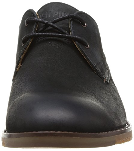 cordones Hombre Noir Damon Hamlin Leather Negro Puppies Black de Zapatos Hush qFXwZX