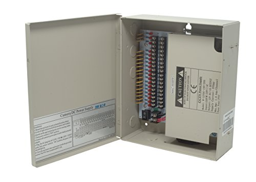 Kenuco CCTV Distributed Power Supply Box : 12V DC, 18 Ports 20 Amps
