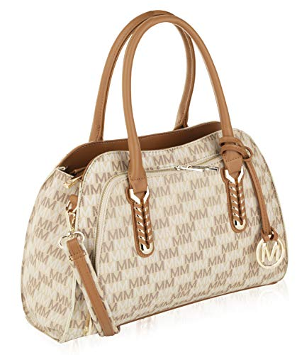 (MKF Collection by Mia K. Farrow Milan Fancy Melissa M Signature Tote (Beige))