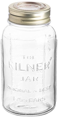 Kilner Anniversary Glass Jar, Metal Screw-top Lid with Airtight Rubber Seal, Durable Embossed Jar for Pickling and Preserving, 25-Fluid Ounces