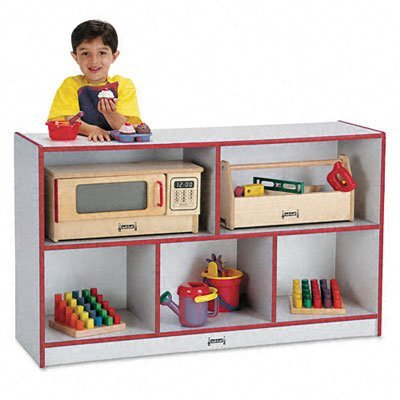 Rainbow Accents 0392JCWW008 Low Single Mobile Storage Unit, Red by rainbow accents
