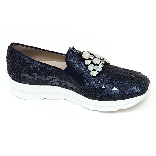 8 woman Blu UNO UNO scarpe SIRI shoe 181 on blu donna D0710 mocassino slip twOq4O7