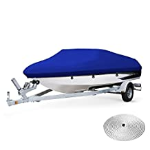 Dulcii Boat Cover, Heavy Duty 210D Waterproof Trailer Fishing Ski Covers, Four Sizes For Choose