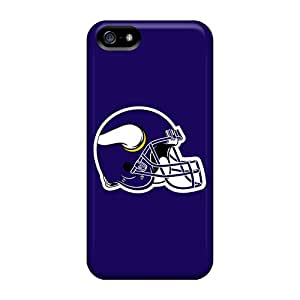 PopFront Scratch-free Phone Case For Iphone 5/5s- Retail Packaging - Minnesota Vikings 6