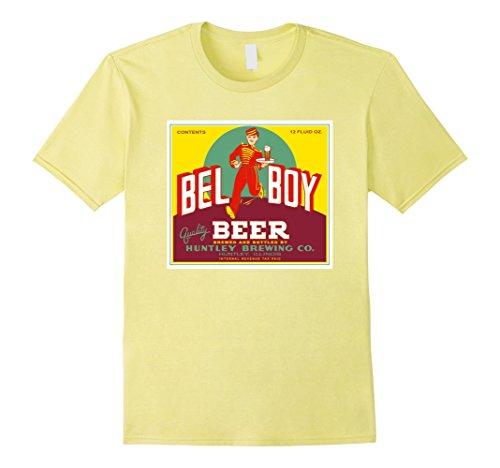 Bell Illinois (Mens Bel Boy Beer Brewery Huntley Illinois USA Shirt 3XL Lemon)