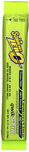 Sqwincher ZERO Qwik Stik - Sugar Free Electrolyte Powdered Beverage Mix, Lemon Lime 060106-LL (Pack of 50) (Electrolyte Replenisher)