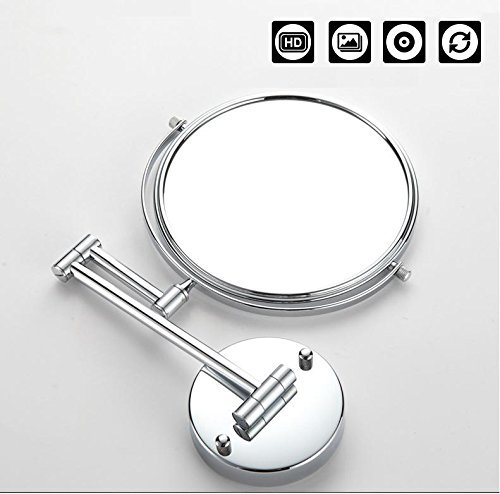 8Inch Two-Sided Swivel Wall Mounted Makeup Mirror Vanity Mirror Magnification Cosmetic Mirror Magnifiers 5X Magnification