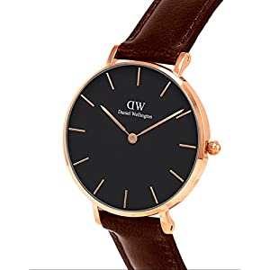 Daniel Wellington Petite St Mawes Watch, Italian Brown Leather Band