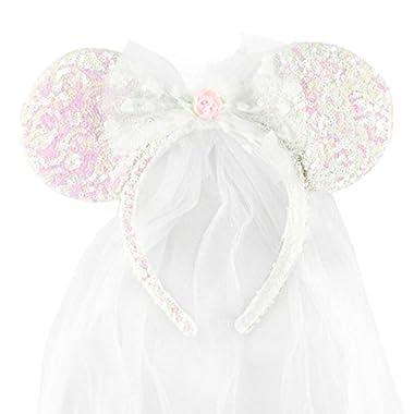 Disney Park Exclusive Minnie Mouse Ears Headband Wedding Veil