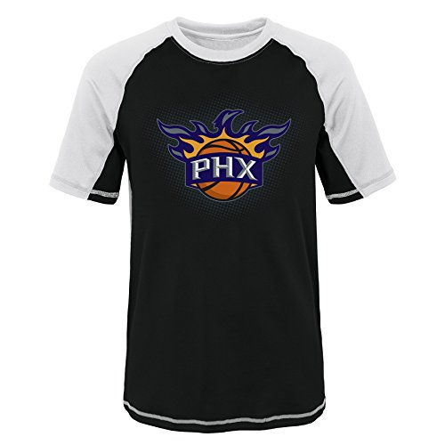 - NBA Youth Boys 8-20 Phoenix Suns Short Sleeve Rash Guard-White-L(14-16)