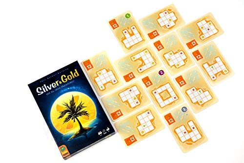 Pandasaurus Games Silver & Gold- A Dry Erase Game for 2-4 Players, Ages 8+