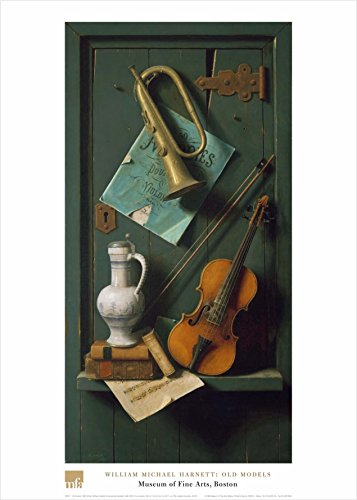 Old Models by William Michael Harnett 28x20 Art Print Poster Still Life Instruments (Life Harnett Still William)