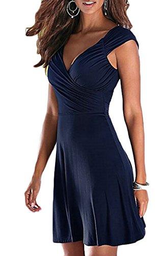 A Dress Jaycargogo Neck Backless Womens Sexy Summer line V Tank 1 Sleeveless Beach qrw8xPqO