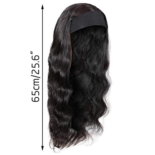 Mortilo Glueless Lace Deep Wave Wigs, Density Human Hair Wigs for Black Women Glueless Water Wave Wet and Wavy Human Hair Wigs 26 Inch (S)