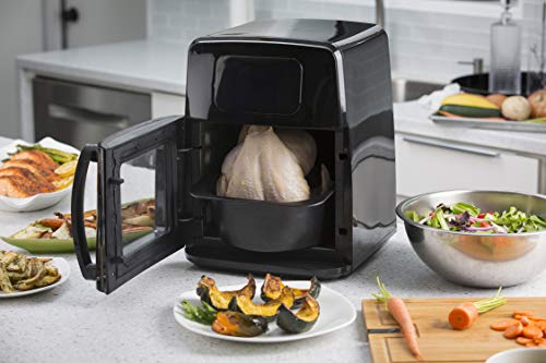 Modernhome 8Qt Premium Digital Air Fryer Toaster Oven with Auto-Stirring, Rotating Rotisserie, Full Accessories Set with Skewers, Pans, Multiple Shelves and Recipe Cookbook - Bake, Roast, Fry and Grill Your Favorite Meals with Up to 90% Less Fat by Modernhome (Image #4)