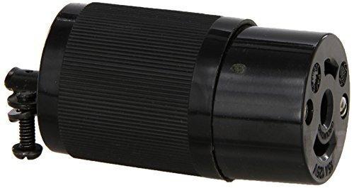 Hubbell HBL7593 Locking Connector, Midget, 15 amp, 125V, ()